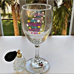 Happy Birthday partner in Wine Glass